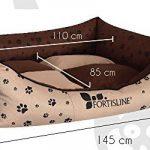 Panier corbeille pour chien Madagascar XXL 130x105cm lit animeaux couchage Fortisline-Brun/beige de la marque Fortisline image 5 produit
