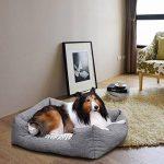 Songmics Panier lit chien 80 x 60 x 26 cm Dog Bed Coussin Matelas pour chien chats PGW26G de la marque Songmics image 1 produit