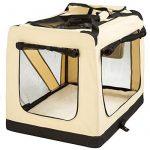 """TecTake Cage Box de Transport pour Chien Chat Pliable Beige - diverses tailles au choix - (""""XL"""" 80x55x58cm) de la marque TecTake image 2 produit"""